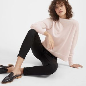 Everlane Luxe Wool Square Crop Mockneck in Pink